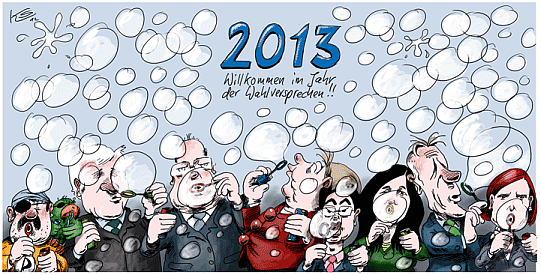 Karikatur Cartoon 2013 Neujahr