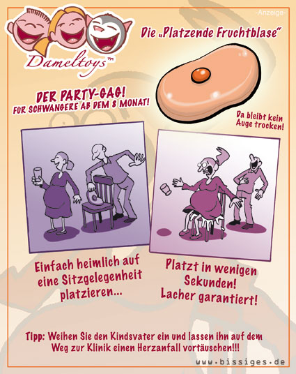 Party-Gag Fruchtblase Karikatur Cartoon
