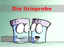 Cartoon - Urinprobe